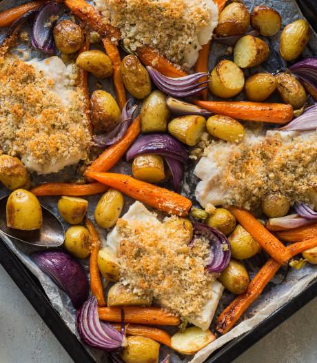 Wat Eten We Vandaag: Knapperige kabeljauw uit de oven met krieltjes