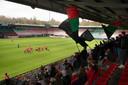 Zo'n 260 fans waren aanwezig bij de laatste training van NEC in aanloop naar de topper tegen Jong Ajax.