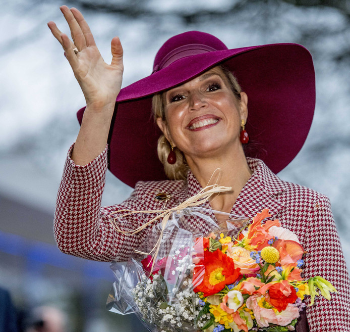 Koningin Maxima straalt bij de opening van het vernieuwde en geheel gerenoveerde Musis in Arnhem. Musis is een multifunctioneel podium voor Arnhem en omgeving. Foto Robin Utrecht
