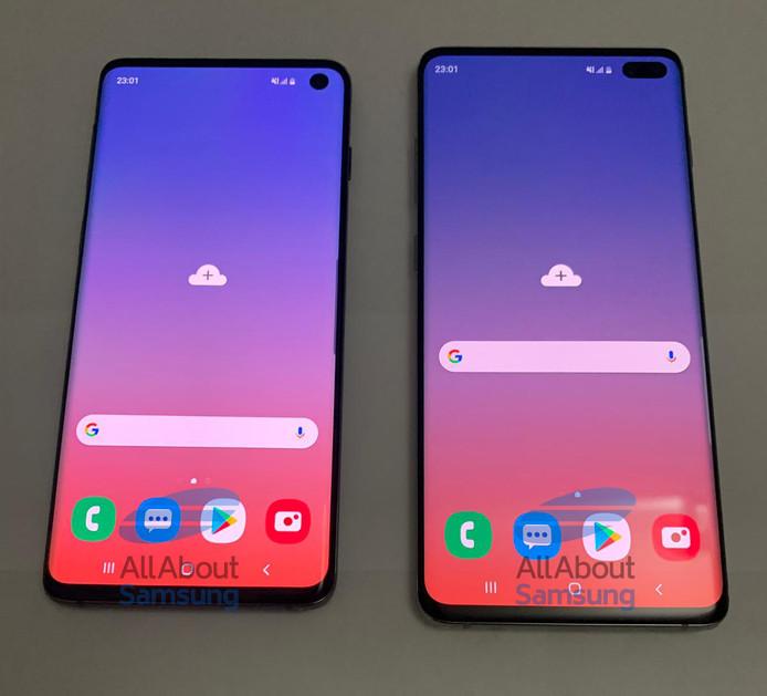 De voorkant van de nieuwe smartphone.