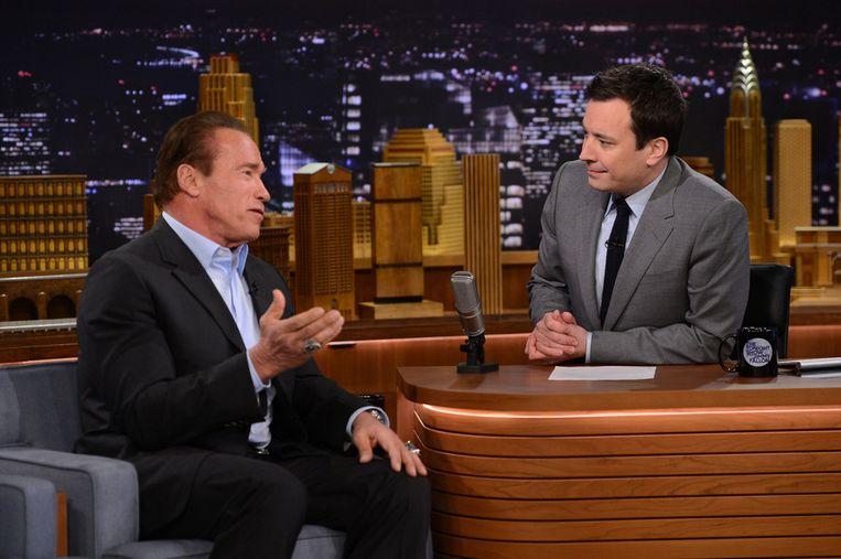 Gisteren was Arnold Schwarzenegger te gast. Beeld getty