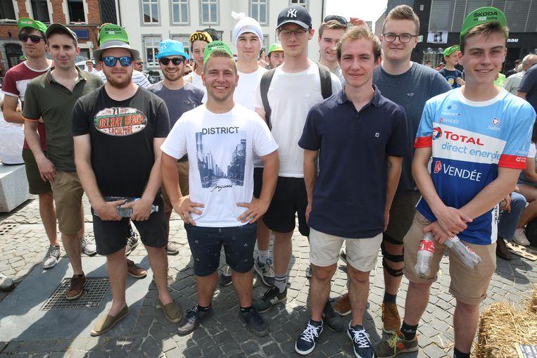 Doortocht Ronde van Frankrijk over de Markt in Lennik