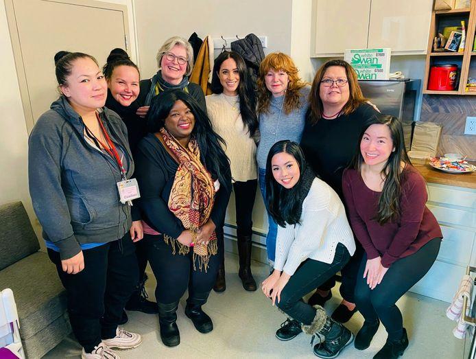 Meghan Markle, en visite dans un refuge pour femmes, à Vancouver, le 14 janvier 2020.