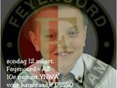 Supporters Feyenoord zingen zondag voor Diego