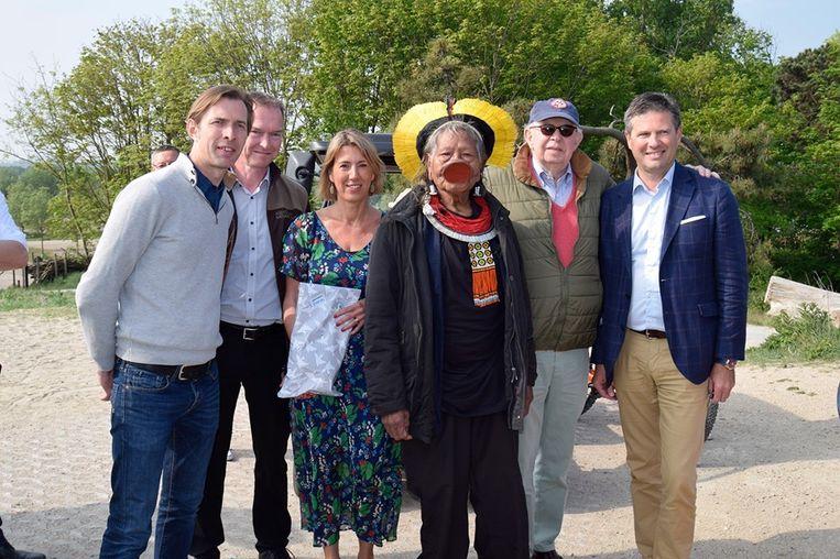 Braziliaans stamhoofd Raoni bezoekt Zwin in Knokke