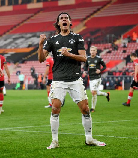 Van de Beek speelt hele wedstrijd en ziet Cavani schitteren in slotfase in Southampton