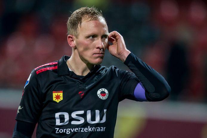 Henrico Drost na de wedstrijd tegen AZ met zijn vorige werkgever Excelsior.