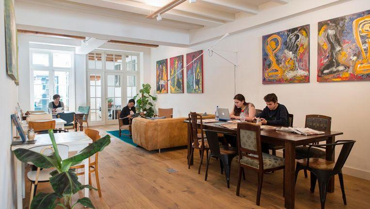 'Charley's is een mix van café en coworking' Beeld Charlotte Odijk