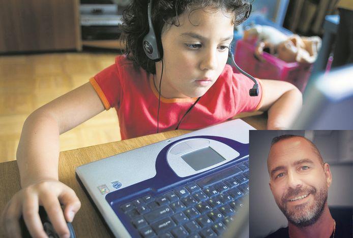 Richard Schenkeveld uit Herwijnen zamelt bij bedrijven laptops in voor kinderen die thuisles moeten volgen, maar geen laptop hebben.