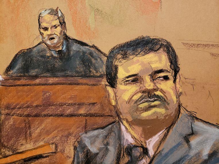 El Chapo tijdens zijn proces eerder dit jaar.