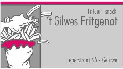 't Gilwes Fritgenot levert op woensdag, donderdag en zaterdag thuis, ook 't Gilwes Kiekske blijft open