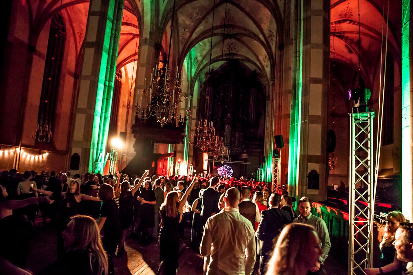 Nieuwjaarsfeest in de Grote Kerk.