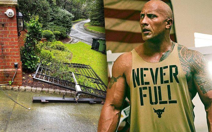 Als de poort van Dwayne 'The Rock' Johnson niet open gaat en hij zijn geduld verliest...