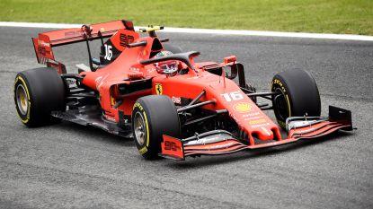Charles Leclerc is snelste in glibberige eerste en tweede oefensessie van Monza