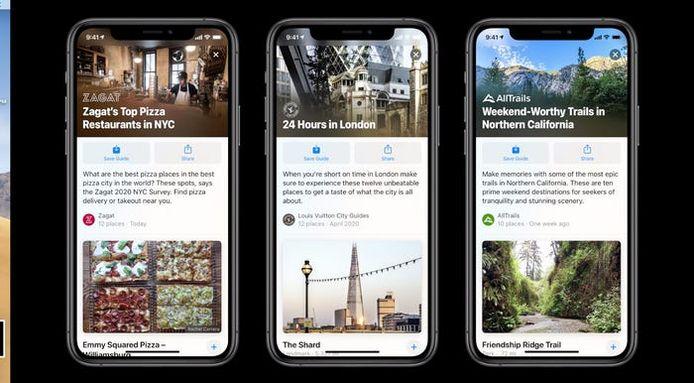 Apple Maps krijgt onder meer informatie over bezienswaardigheden.