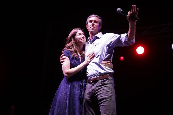 Beto O'Rourke met zijn vrouw Amy Sanders.