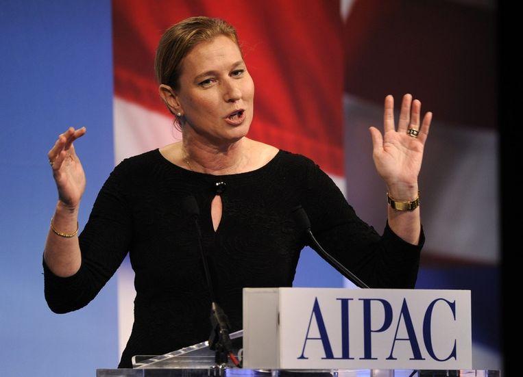 De toenmalige Israëlische minister van Buitenlandse Zaken, Tzipi Livni. Foto ANP Beeld