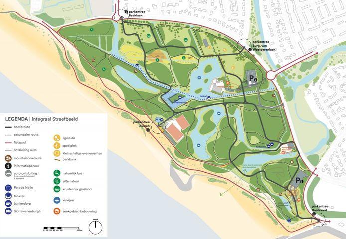 """'Dit is géén ontwerp, maar wel een evenwichtige visie"""", schrijven de landschapsarchitecten van BoschSlabbers bij de presentatie van het concept-streefbeeld voor het Nollebos/Westduingebied."""