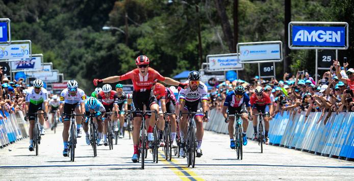Cees Bol won de slotrit van de Ronde van Californië door o.a. Peter Sagan te kloppen.