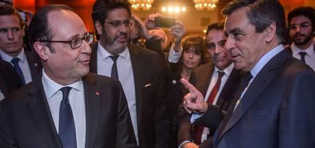 Fillon beschuldigt Hollande van lekken naar de pers, Hollande ontkent
