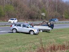 Lange file na dubbel ongeval op A1 tussen Hengelo en Oldenzaal