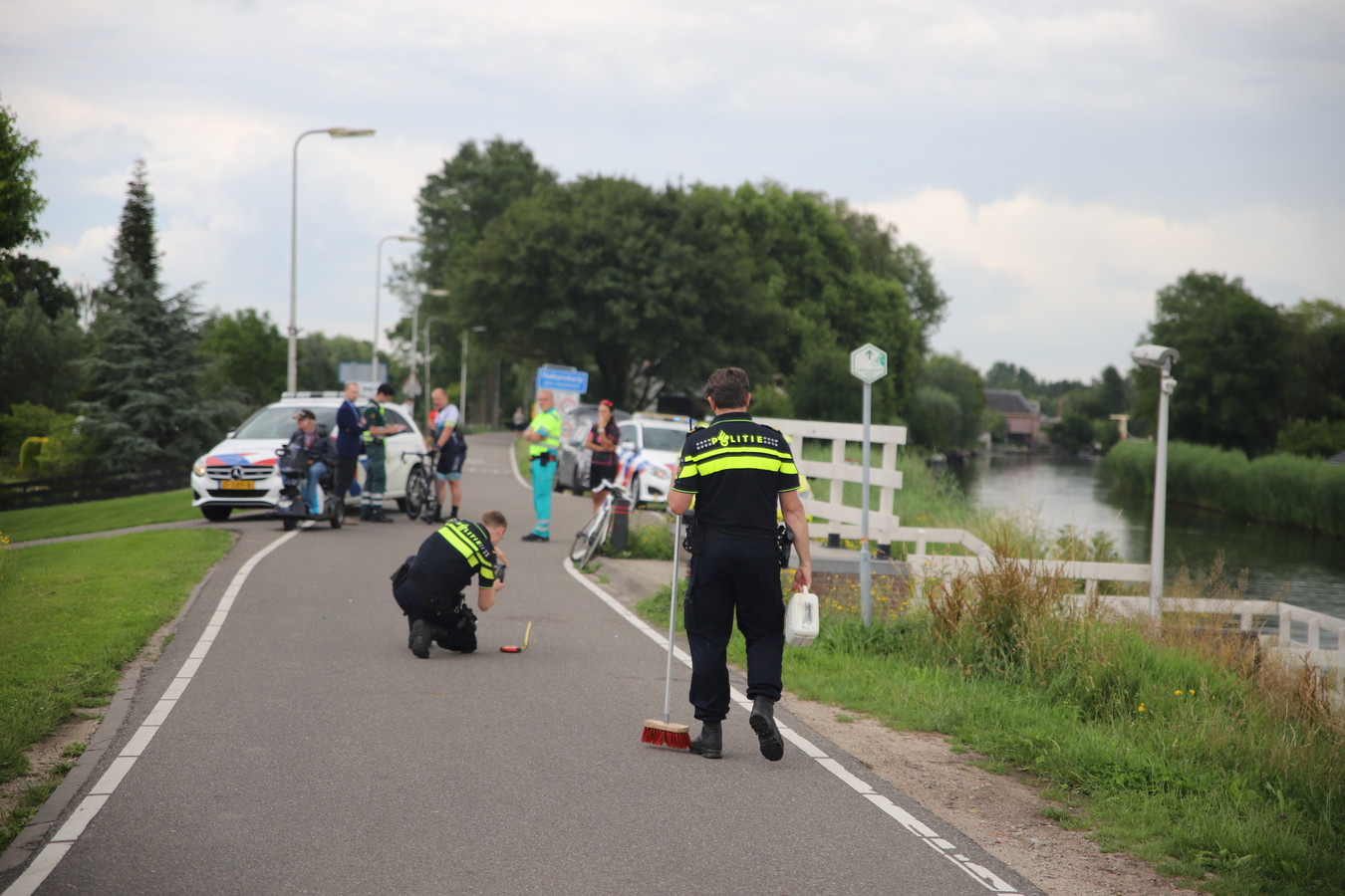 Wielrenster gewond bij Hekendorp