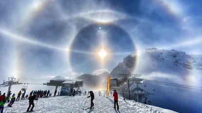 De foto van zijn leven: skiër neemt met zijn iPhone foto van fenomenaal natuurverschijnsel
