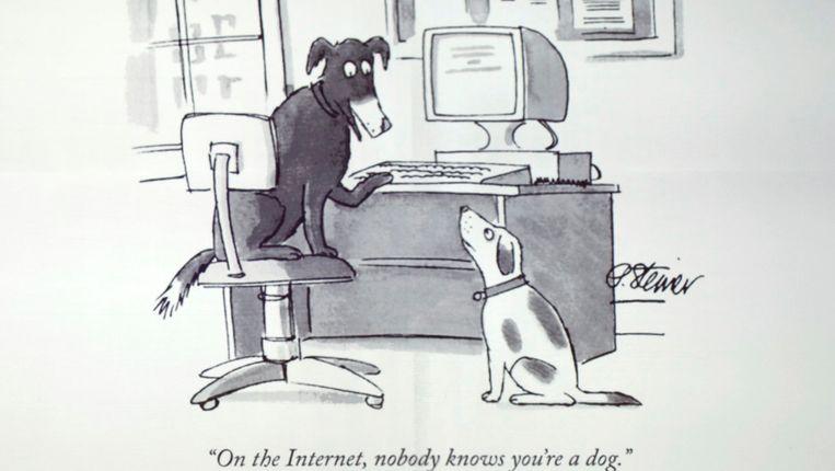 Een zwartwitcartoon uit The New Yorker.