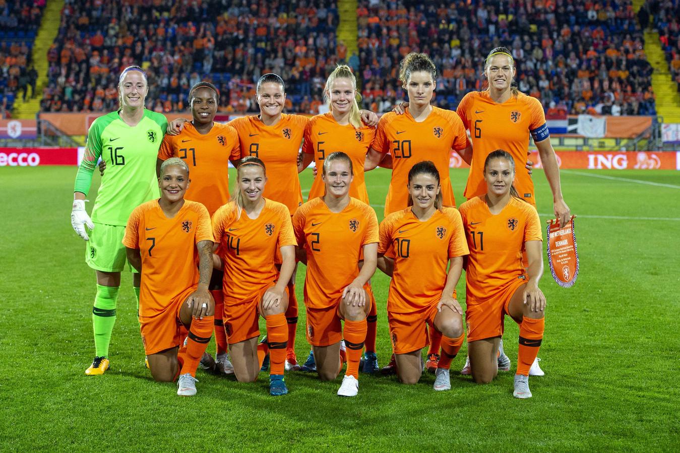 De voetbalsters van Oranje.