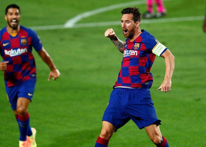 Lionel Messi juicht.