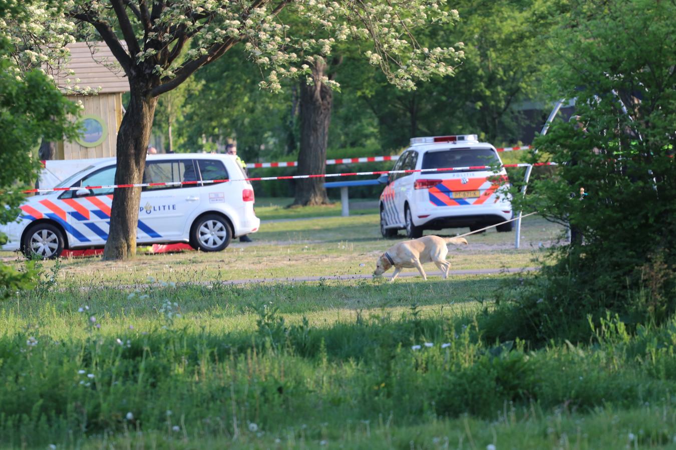 De politie deed vanmorgen onderzoek.