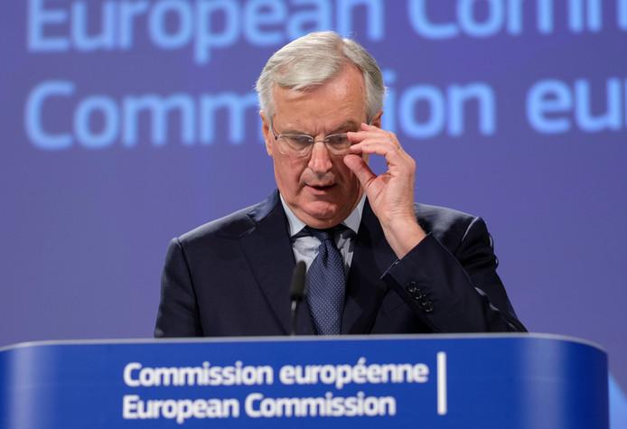 Hoofdonderhandelaar Barnier.