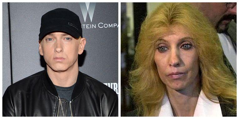 Het zit er vaak bovenarms op tussen Eminem en mama Debbie