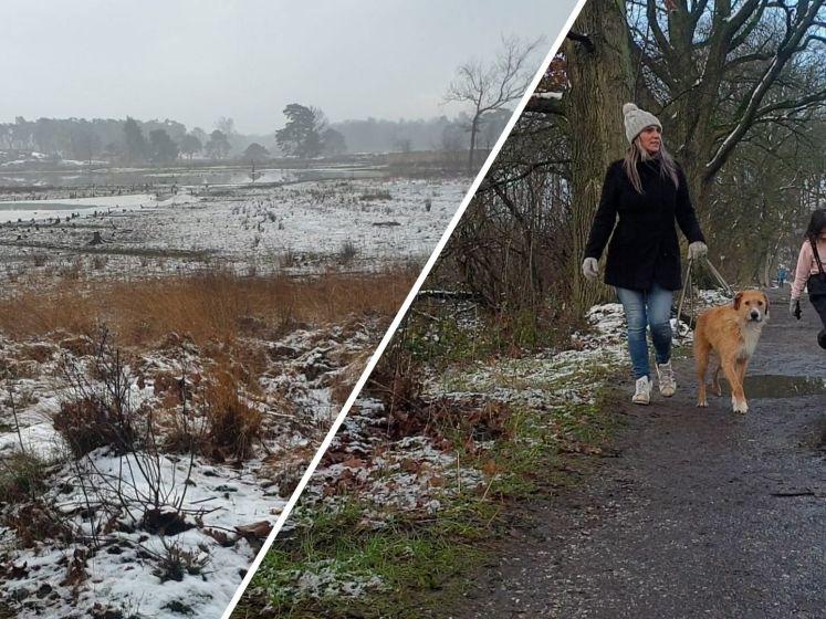 Drukte in de Hatertse en Overasseltse Vennen door sneeuw