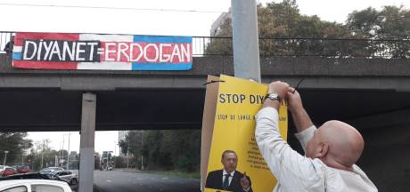 Nijmegen Rechtsaf houdt actie tegen moskee in de stad, politie grijpt in
