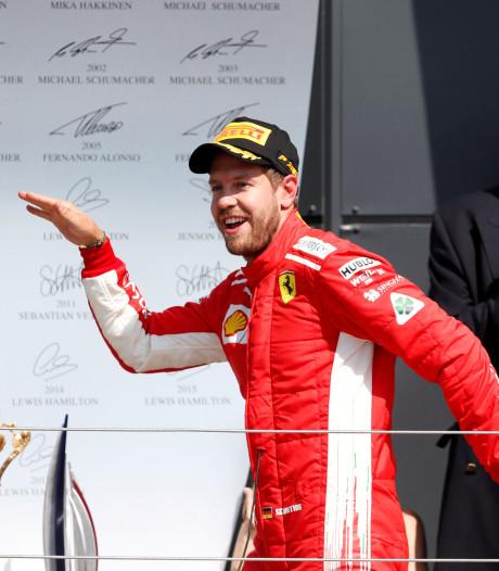 Vettel maakt einde aan hegemonie Hamilton: 'Hij vocht als een leeuw'