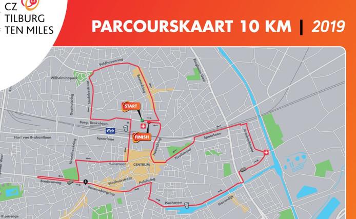 Route van de 10 kilometer