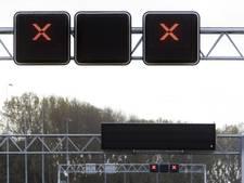 Geen boetes voor negeren rood kruis A2 bij Vinkeveen