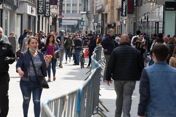 Shoppen in de Brusselse Nieuwstraat ziet er voortaan zo uit.