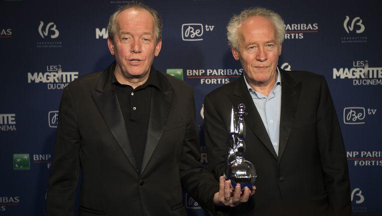 Jean-Pierre en Luc Dardenne showen hun Magritte du Cinéma.