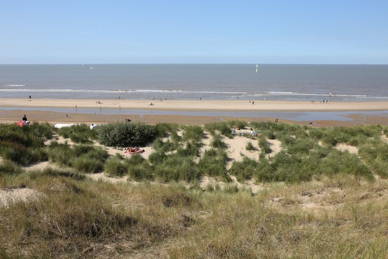 De Haan, een breed strand en riante duinen.