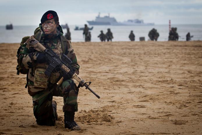 Mariniers tijdens een oefening.