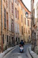 Stille straatjes in het centrum van Toulouse.