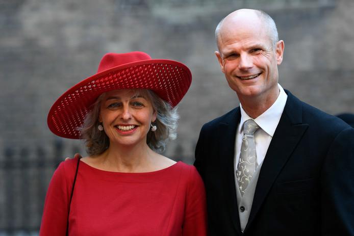 Minister Stef Blok van Buitenlandse Zaken en zijn partner tijdens Prinsjesdag.