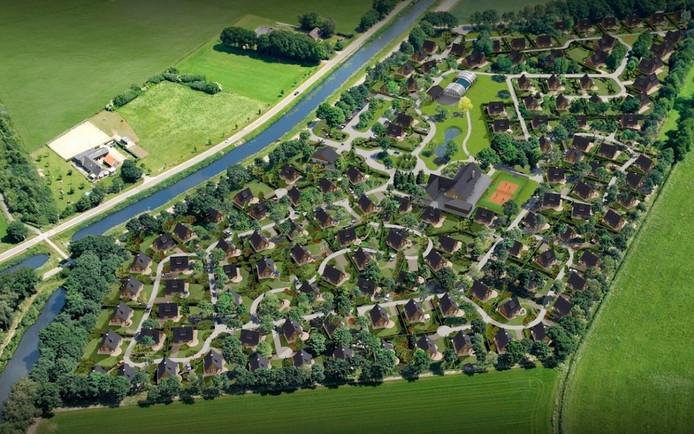 Villapark Hof van Salland aan het Overijsselsch Kanaal even voorbij Hankate.