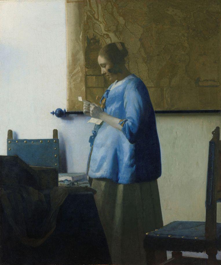 Brieflezende vrouw, Johannes Vermeer, ca. 1663. Beeld Collectie Rijksmuseum