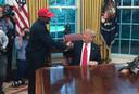 Kanye West bezoekt Donald Trump in het Witte Huis in 2018.
