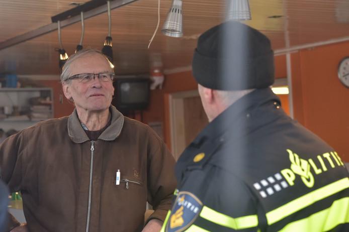Cees Engel aangehouden bij Fort Oranje.