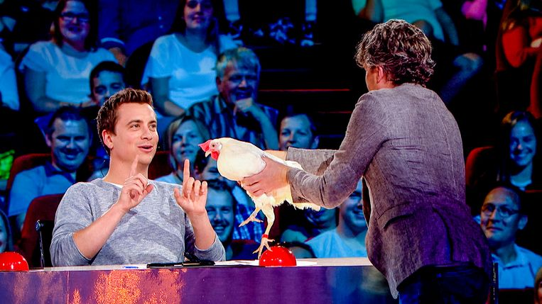 Niels, Jo en Kip Curry in 'Belgium's Got Talent'.