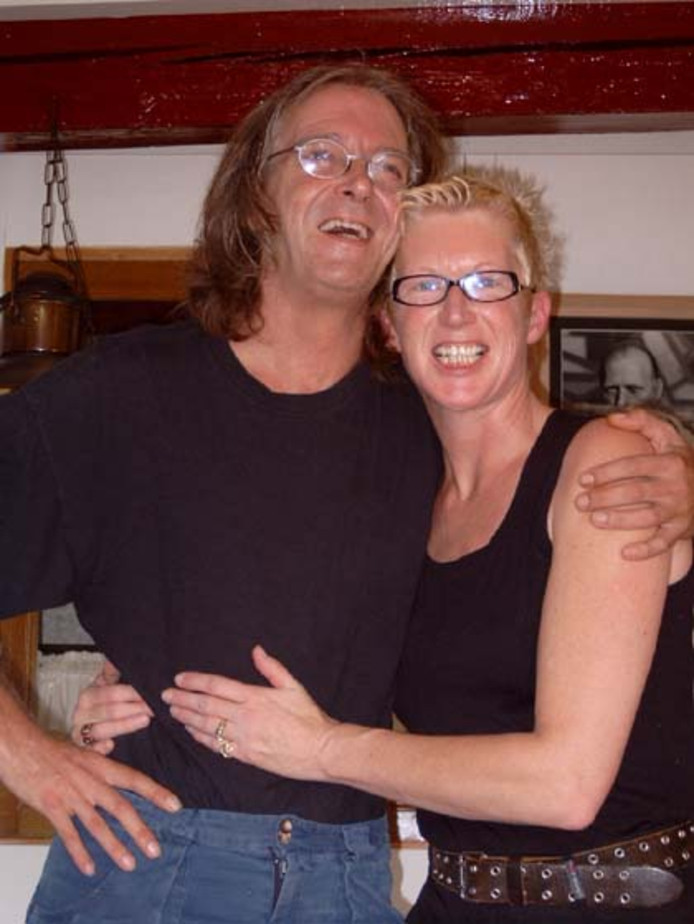 Hans Voets en echtgenote Josien Legters in 2007, net voordat hij Q-koorts opliep.